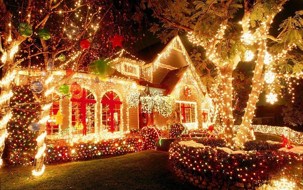 Новогоднее оформление домов создание